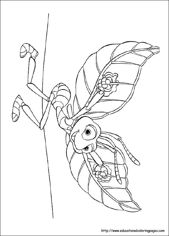 12 Best Disney Bugs Life Coloring Page Images