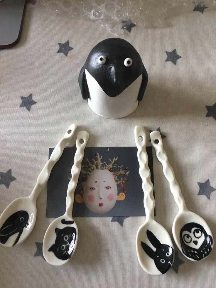 Twitter Tim @shoottheducks Wonderful @MidoriTakaki ceramics for Christmas surprise