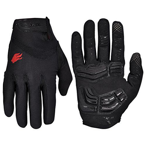 FIRELION Cycling Gloves Mountain Bike Gloves Road Racing Bicycle Gloves Gel Pad Riding Gloves Touch Screen Full Finger Gloves *** Continue to the product at the image link. (Note:Amazon affiliate link)