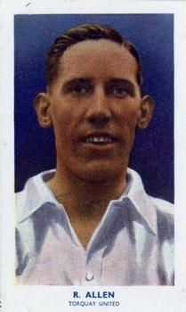 1939 R & J Hill Famous Footballers Series 2 #65 Ralph Allen Front