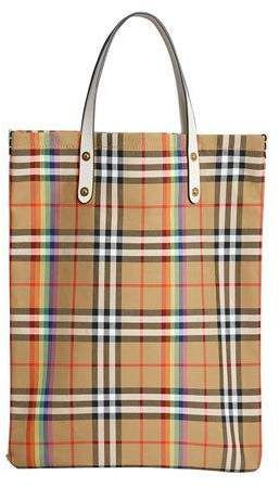 a5ae39058684 Burberry Vintage Check Rainbow Medium Shopper Tote Bag