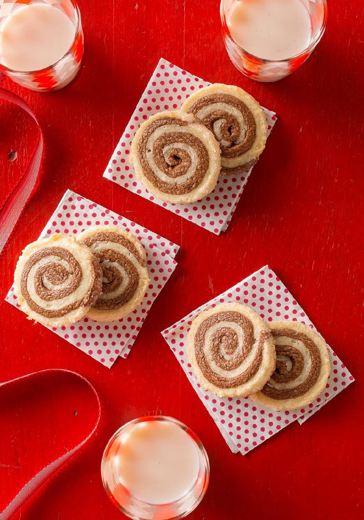 Chocolate-Coconut Pinwheels — In this dessert recipe, layers of chocolate and coconut dough are rolled in sugar to make fancy pinwheel cookies that will impress your family and friends!