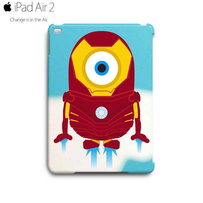 Despicable Me Minion IRON MAN iPad Air 2 Case Cover Wrap Around