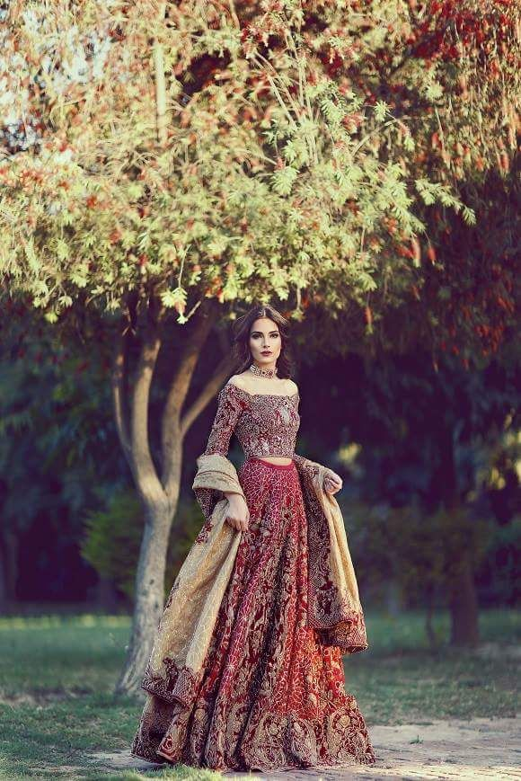 Pakistani very amazing wedding dress.                                                                                                                                                     More