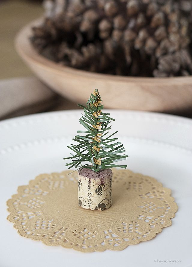 Simple Wine Cork Trees Holiday Christmas Wine Cork Crafts