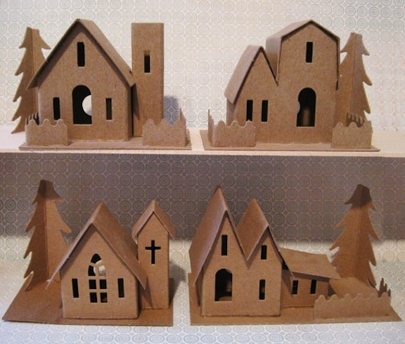 Love these little houses at Christmas!