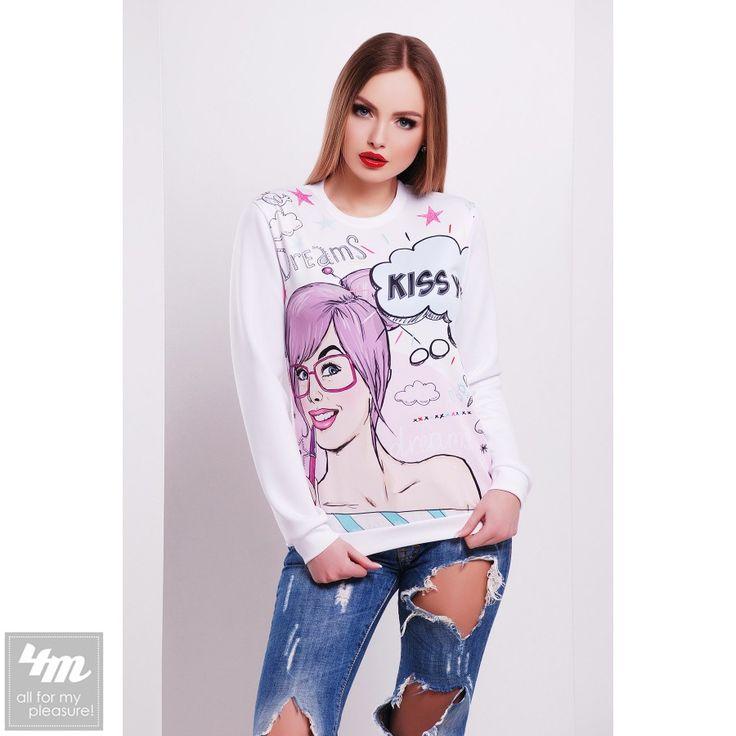 Свитшот Glem «Dreams №2 Д/Р» (Принт-белая отделка) http://lnk.al/3P5Y  Состав: дайвинг (100% полиэстер)  #мойстиль #свитшот #свитшоты #стильныевещи #мода #стильныйобраз #вещи #одеждаУкраина #4m #4m.com.ua