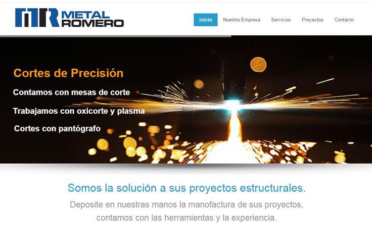 Sitio web www.metalromero.cl para nuestro cliente Metal Romero Ltda. Versión 2015.