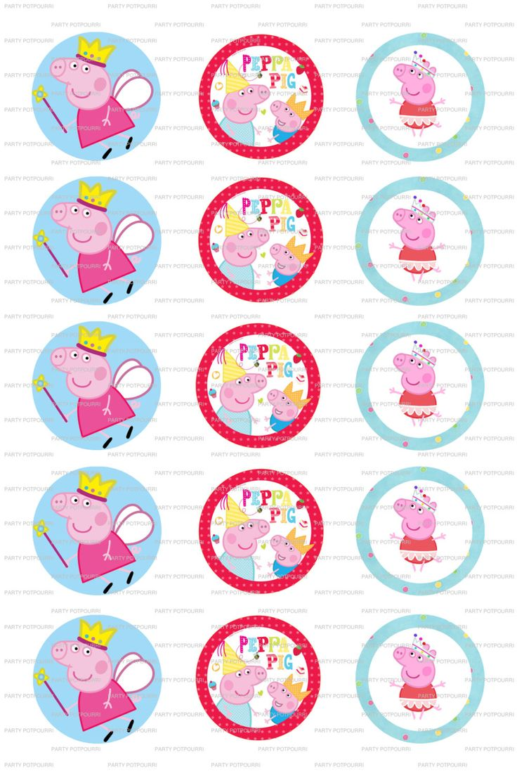 DESCARGA instantánea Peppa Pig Collage archivo por PartyPotpourri
