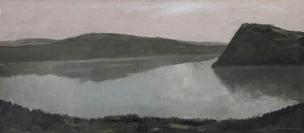 jean paul lemieux - untitled (river view)