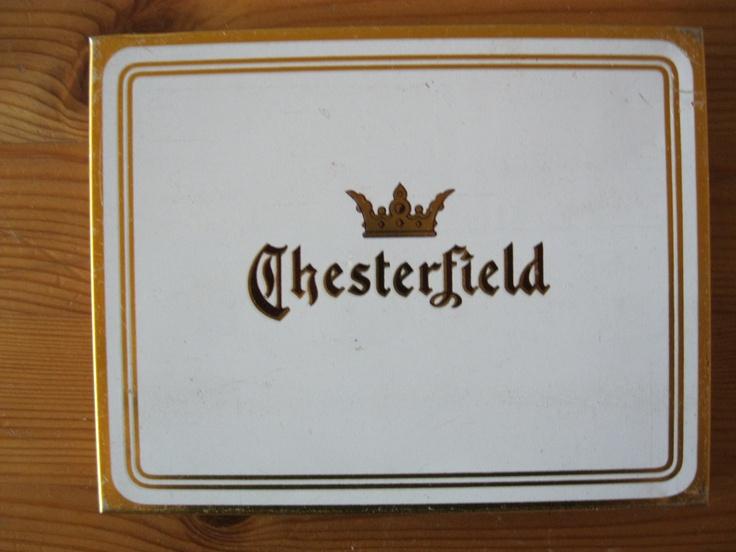 CHESTERFIELD Cigarette tin 50 cigs