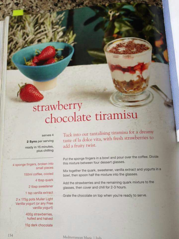 Strawberry chocolate tiramisu slimming world