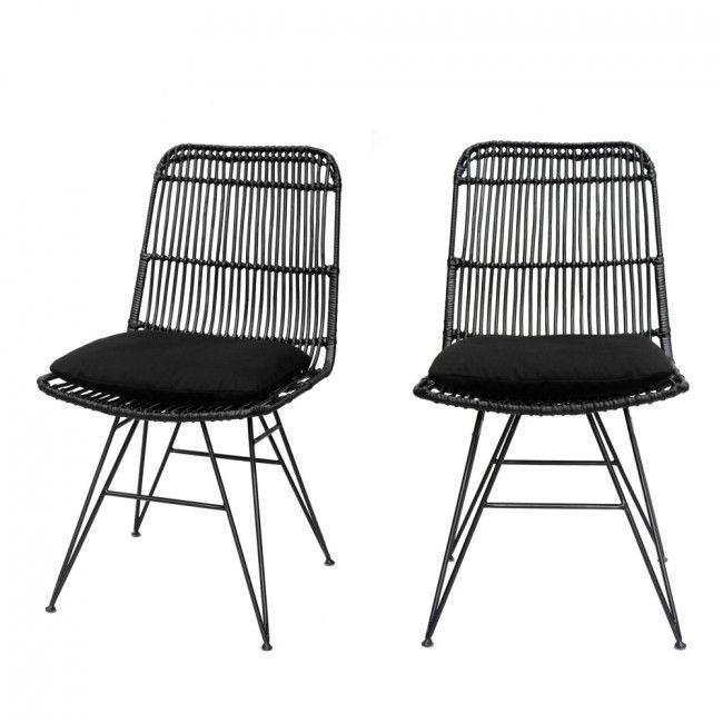 Uyuni 2 Chaises Design En Rotin En 2020 Chaise Rotin Chaise Design Rotin