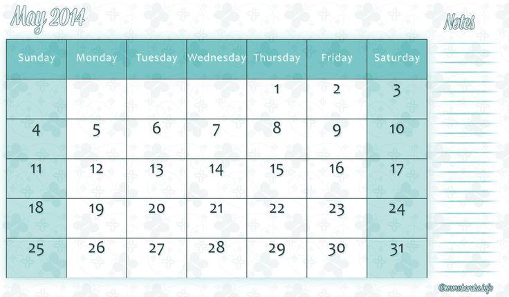calendar October 2014 through November 2015