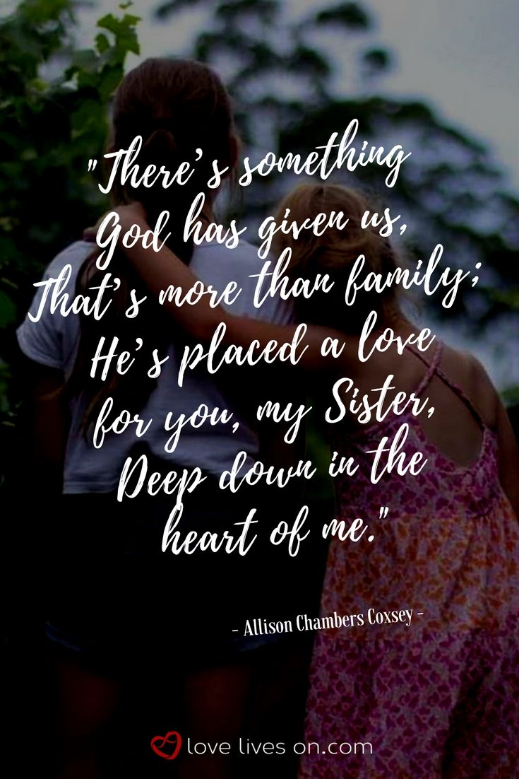 Cousin Sister Quotes Gallery | Sister quotes, Sister poems ...