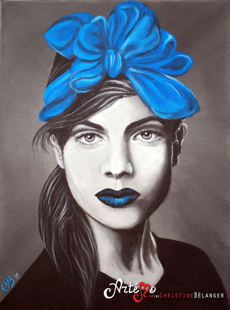 La dame en bleu Artémo par / by Christine Bélanger www.artemo.ca