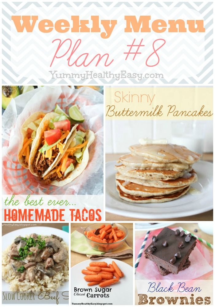 Weekly Menu Plan - lots of cheap and easy dinner ideas plus some yummy side dish and dessert ideas too