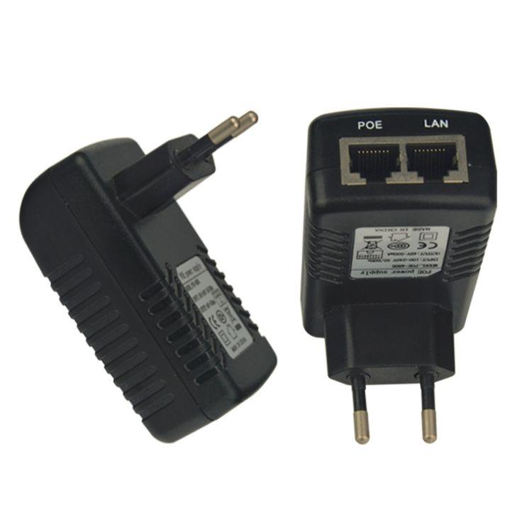 Professionnel Nouveau 24 V 1A PoE-4805/PoE-241/PoE-2405 Adaptateur Convertisseur UE Plug POE Commutateur Ethernet Adaptateur Noir