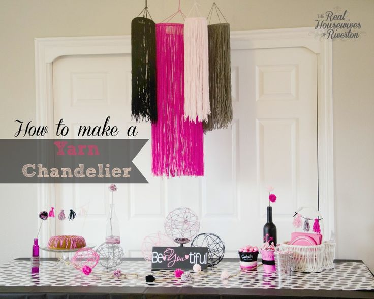 How to make a yarn chandelier - www.housewivesofriverton.com