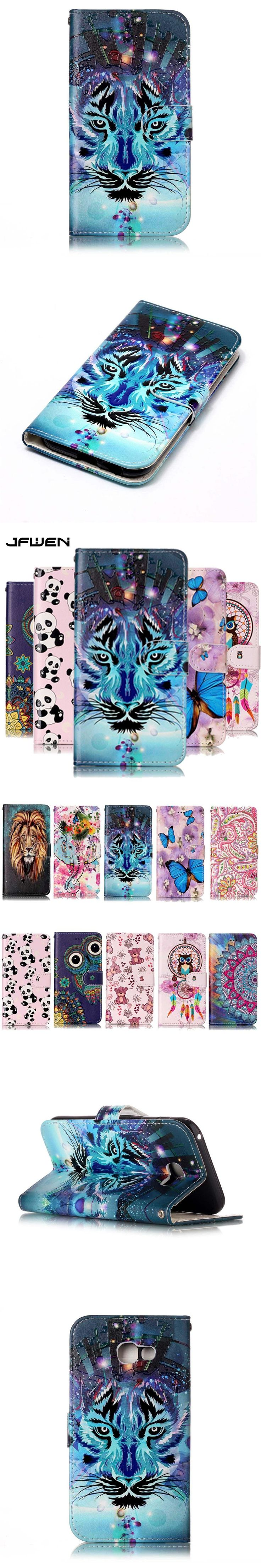 JFWEN For Samsung Galaxy A5 2017 Case Wallet Luxury PU Leather Magnetic For Samsung Galaxy A5 2017 A520 Case Cover Phone Case