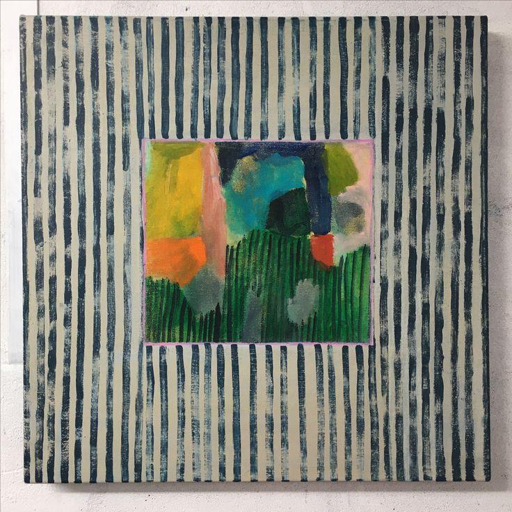 New work / Acrylic on canvas. Julia Flanagan 2017