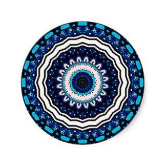 Conception influencée marocaine vintage de tuile sticker rond