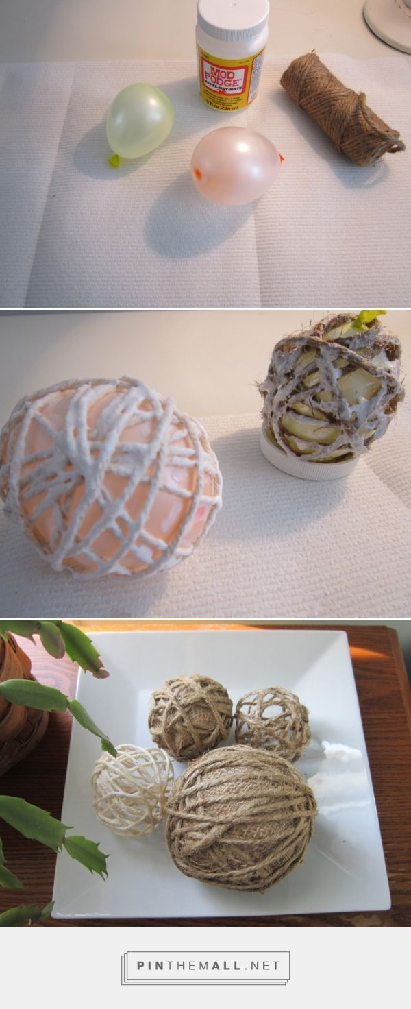 Easy DIY Decorative Bowl Fillers!  theHoneycombHome.com