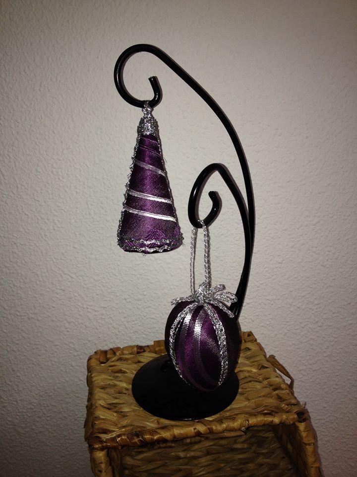 Art 1 - Dekoration i lila siden - Decoración de seda púrpura  http://marinas-tienda-de-artesanias.myshopify.com/