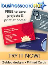 Free Online Business Card Maker...you can print your own cards at home!