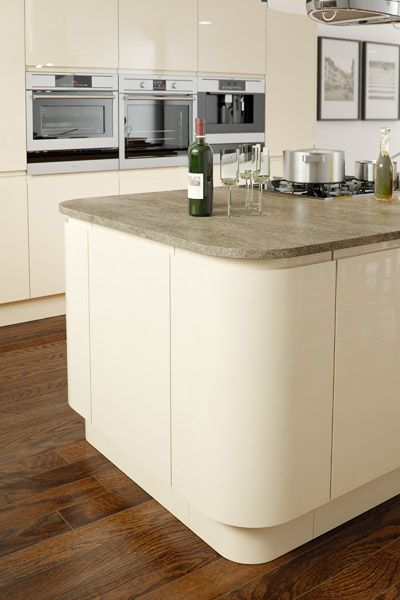 Image result for cream handleless kitchen