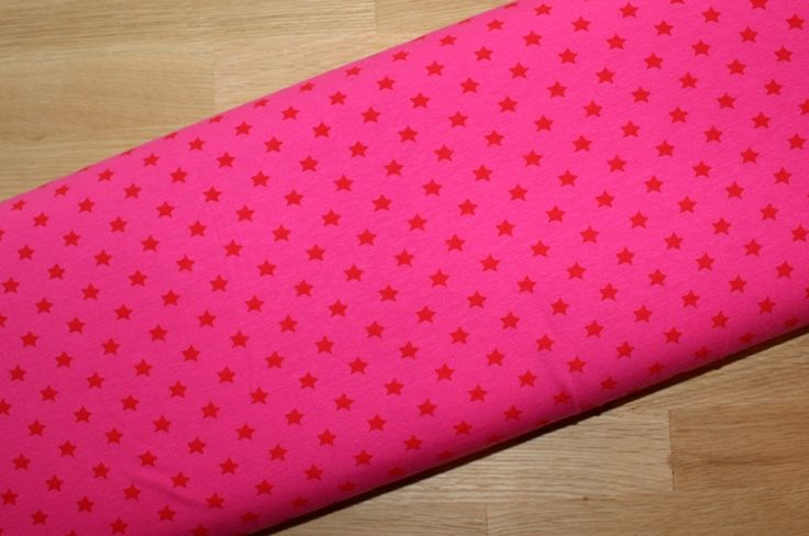 Stenzo+Jersey++Sterne+rot+auf+pink+von+paulinaskleinewelt+Materialshop+auf+DaWanda.com