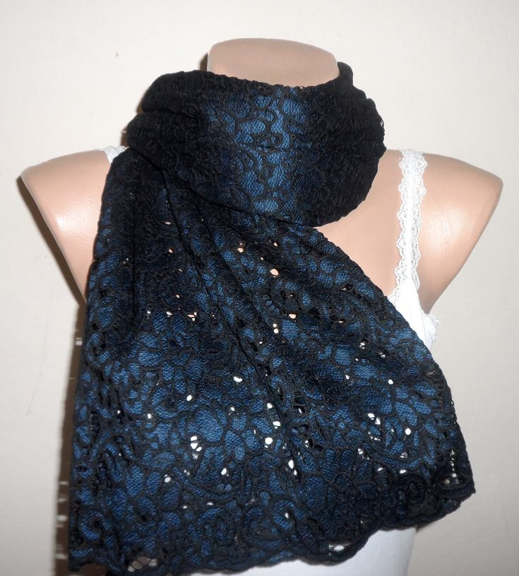 Petrol blue shawl, turkish shawl, turkish wraps, long scarf, embroidery fabric weft, womans accesories, gothic