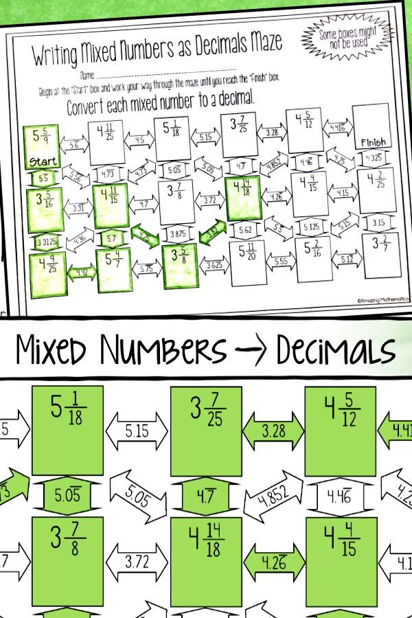 Convert mixed number to decimal Useful