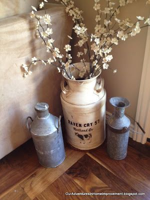 Our Adventures in Home Improvement: Aging an Old Milk Can