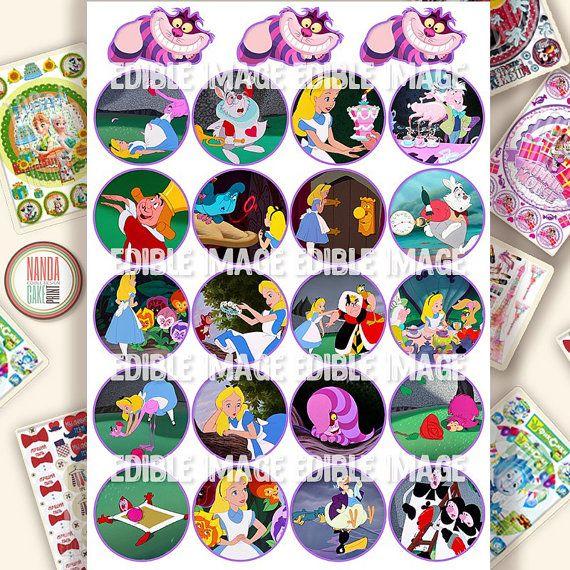 Alice in Wonderland edible cake decorations от EdibleCakePrint