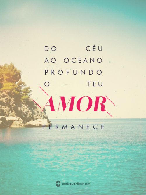 do céu ao oceano profundo o teu amor permanece. - hillsong young & free twitter: https://twitter.com/maisoverflow facebook: https://www.facebook.com/maisoverflow instagram:...