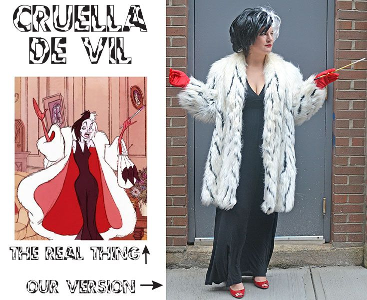 cruella de vil costume diy halloween - Cruella Deville Halloween Costume Ideas