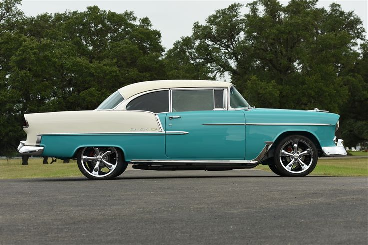 1955 CHEVROLET BEL AIR CUSTOM HARDTOP - Side Profile - 199670