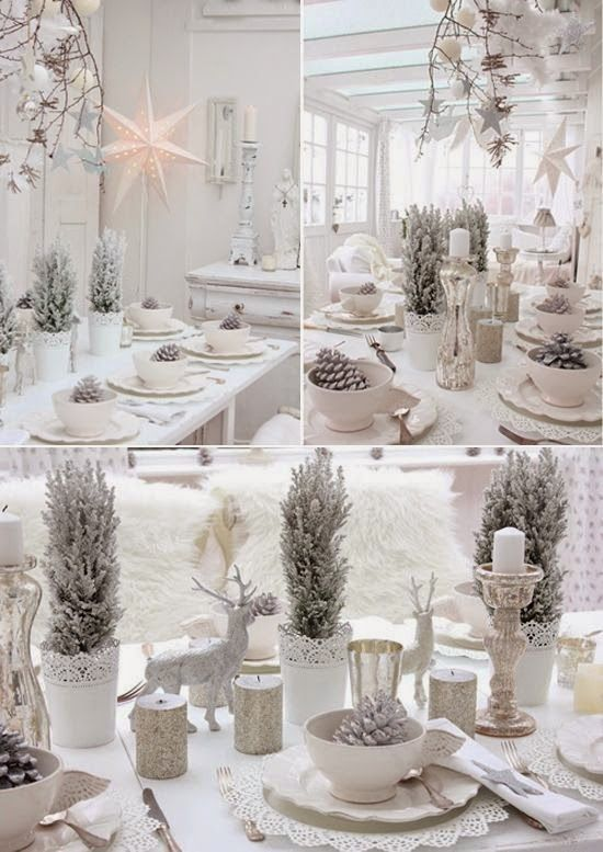 1000 id es sur le th me d corations de table de no l sur pinterest d corati - Deco table noel chic ...