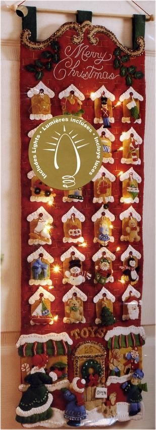 Bucilla Toy Store Advent Calendar Felt Applique Kit - Click Image to Close