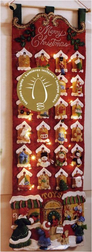 Bucilla Toy Store Advent Calendar Felt Applique Kit - Click Image to Close