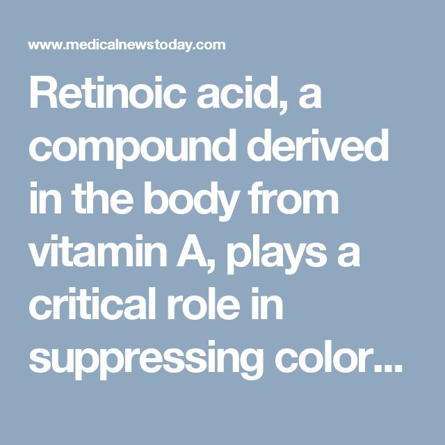 Retinoic acid, a compound derived in the body from vitamin A, plays a critical role in suppressing colorectal cancer in mice and humans, according to researchers at the Stanford University School of Medicine.  Mice with the cancer have lower-than-normal levels of the metabolite in their gut, the researchers found. Furthermore, colorectal cancer patients whose intestinal tissues express high levels of a protein that degrades retinoic acid tend to fare more poorly than their peers.  The…
