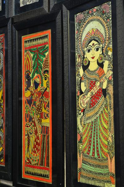 Framed madhubani paintings