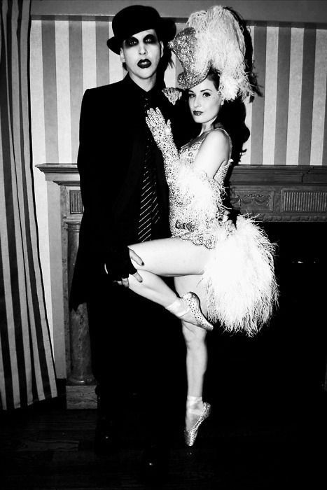 Marilyn Manson and Dita Von Tease.  ## Very interesting combination!