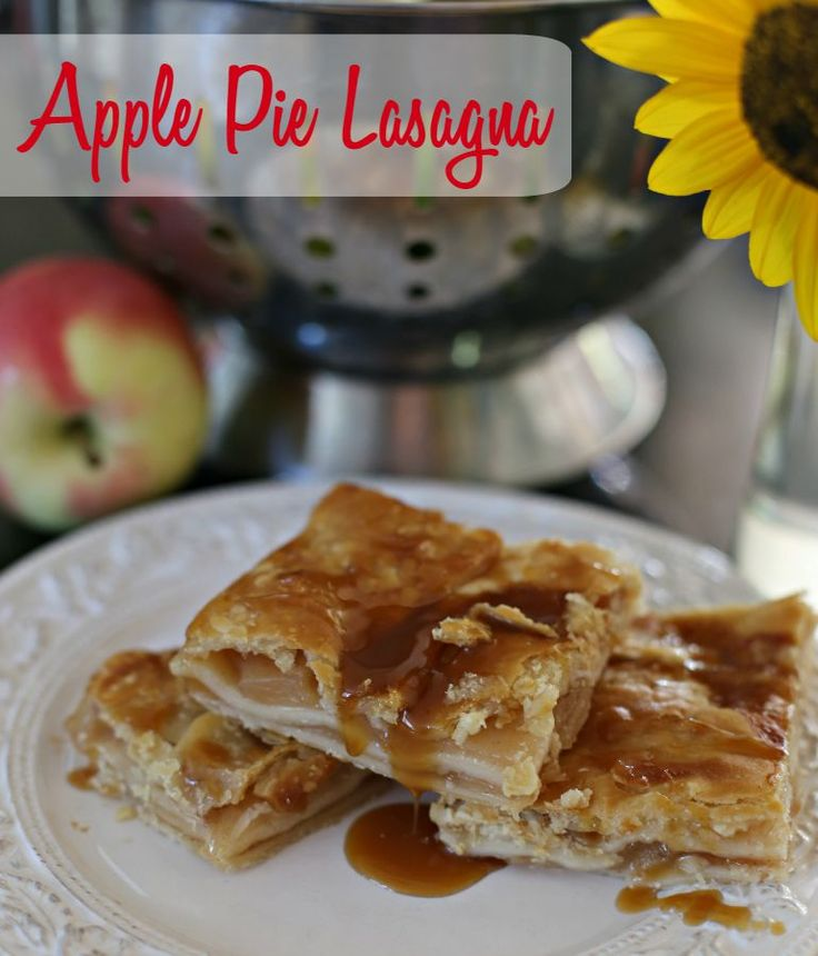 This apple pie lasagna is taking your favorite pie to a whole new level. Layers of flaky pie crust topped with gooey apples and caramel sauce... and with 3 simple ingredients, creating this sweet lasagna will take little time out of your day!