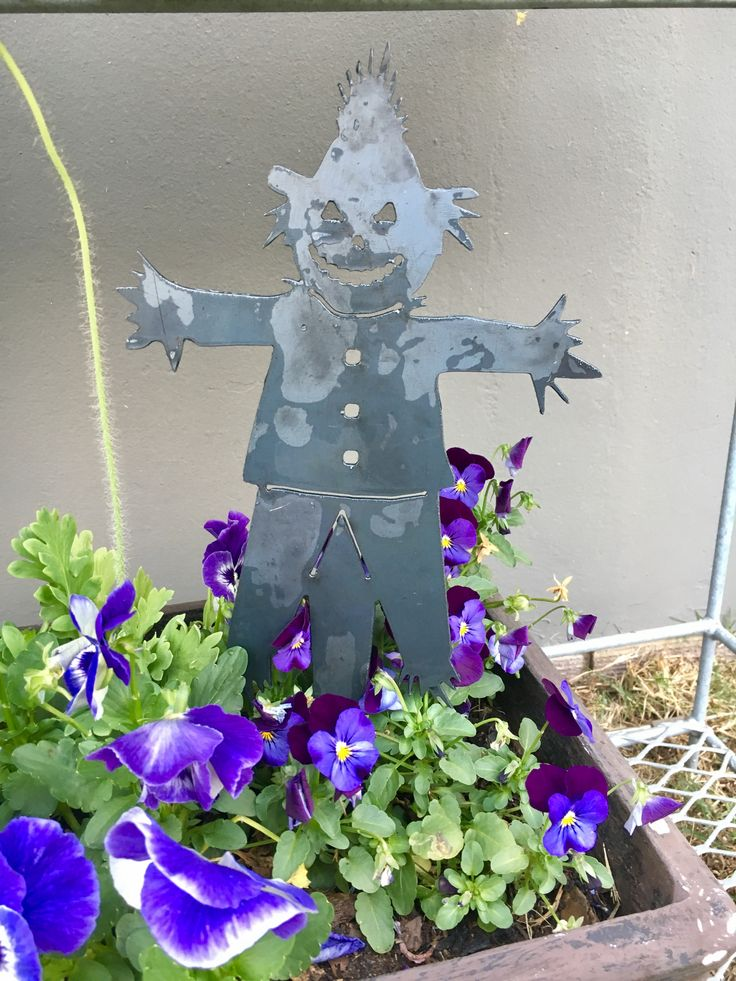 Metal scarecrow. Made in Durban by Chanzco.