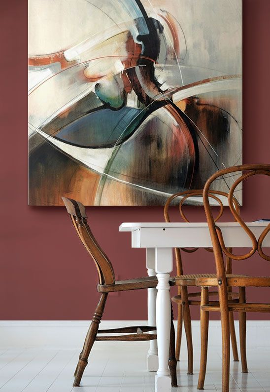 [Home Decor] #PANTONE® 2015 Color of the Year, #Marsala themed wall art from @greatbigcanvas
