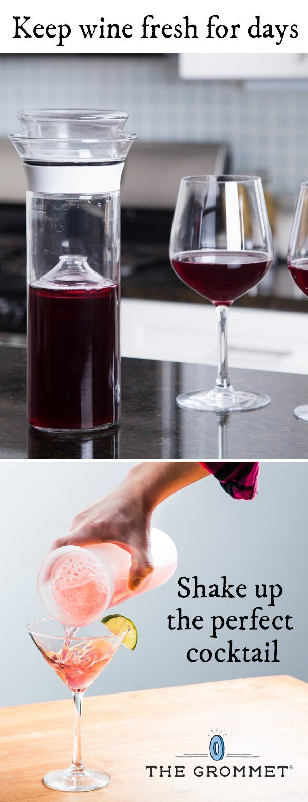 This innovative carafe preserves the wine you open today for tomorrow and days to come. Now available in shatterproof plastic ideal for use outdoors. And this modern cocktail shaker helps you make the perfect cocktail everytime.