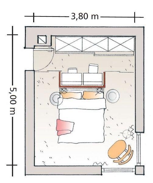 Begehbarer Schrank mit Arbeitsplatz