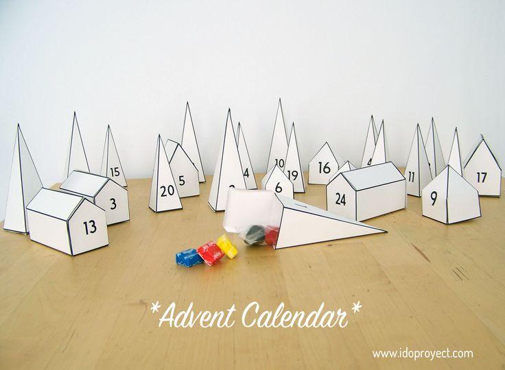 37 best navidad calendarios de adviento images on - Calendario de adviento diy ...